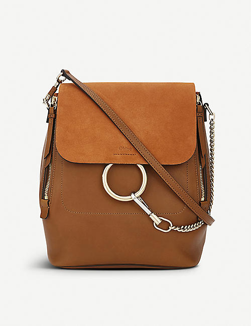dfebf63274 CHLOE Faye leather   suede backpack