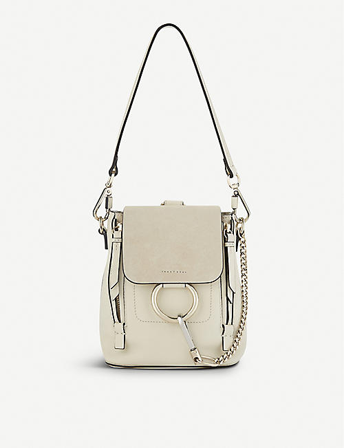 6fe6d226f55f CHLOE Faye mini leather   suede backpack