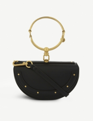 CHLOE Nile half look leather minaudière bag