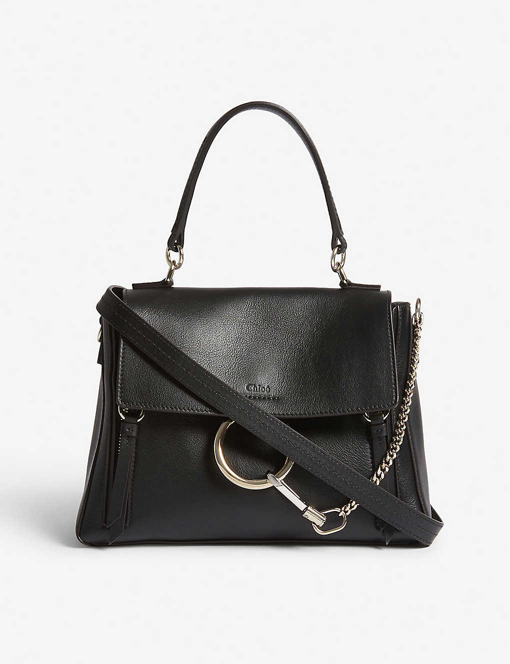 51ddf579cf2 CHLOE - Faye Day small grained leather shoulder bag | Selfridges.com