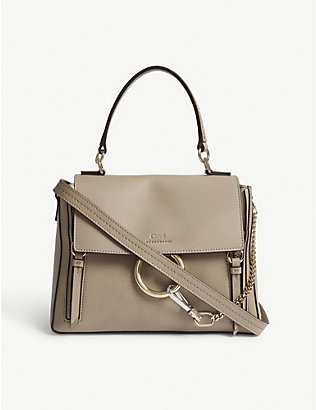 CHLOE: Faye Day small grained leather shoulder bag