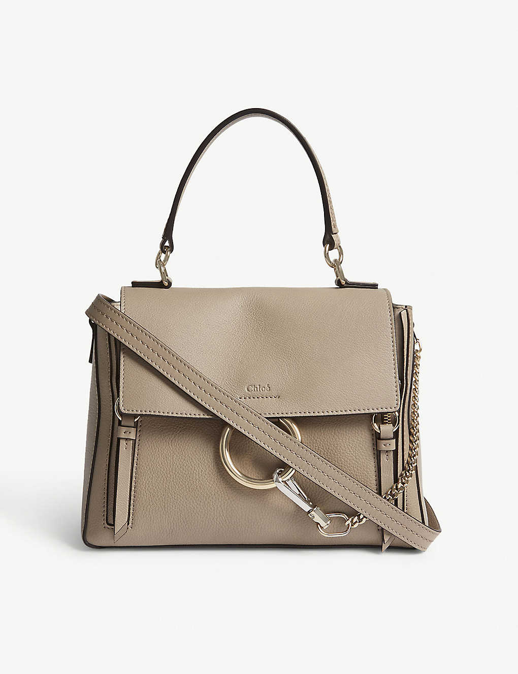 0e36898020975 Faye Day small grained leather shoulder bag - Motty grey ...