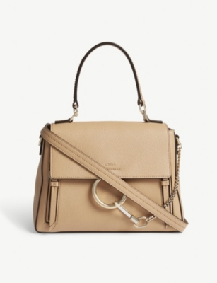 CHLOE Faye Day small grained leather shoulder bag