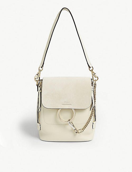 CHLOE Faye small leather backpack
