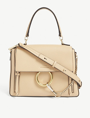 CHLOE Faye leather and suede satchel bag