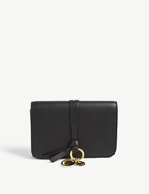 CHLOE ABC grained leather flap wallet