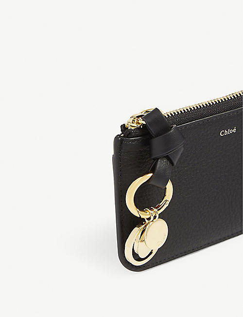 CHLOE ABC grained leather card wallet