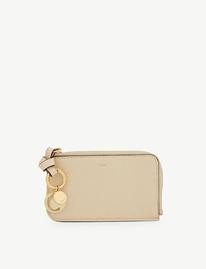 CHLOE Alphabet leather card holder