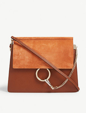 CHLOE Faye suede and leather satchel