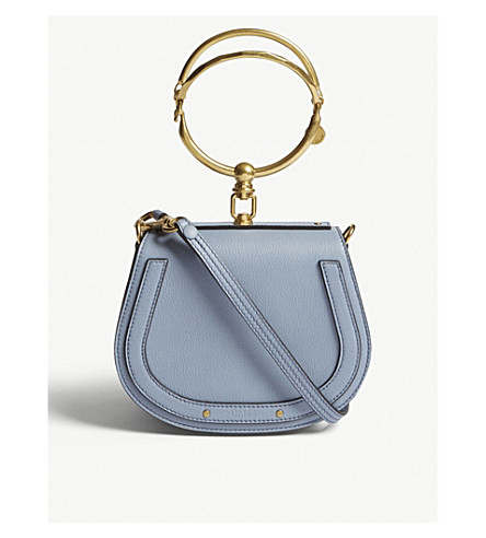 a0d1a0e5e83f CHLOE Nile small leather cross-body bag (Washed+blue