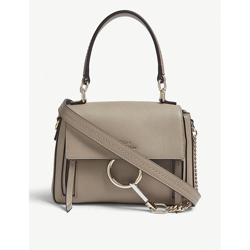 CHLOÉ | Chloe Ladies Motty Grey Faye Day Mini Leather Shoulder Bag | Goxip