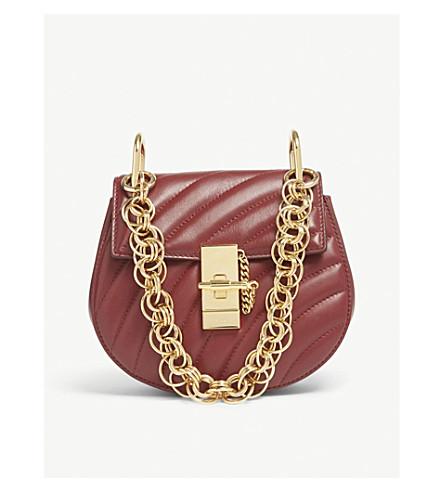 7f007585524 CHLOE Drew Bijou mini quilted leather shoulder bag (Plum+purple