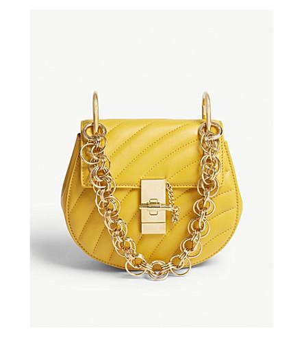 911e1c4b095 CHLOE Drew Bijou mini quilted leather shoulder bag (Dark+ochre