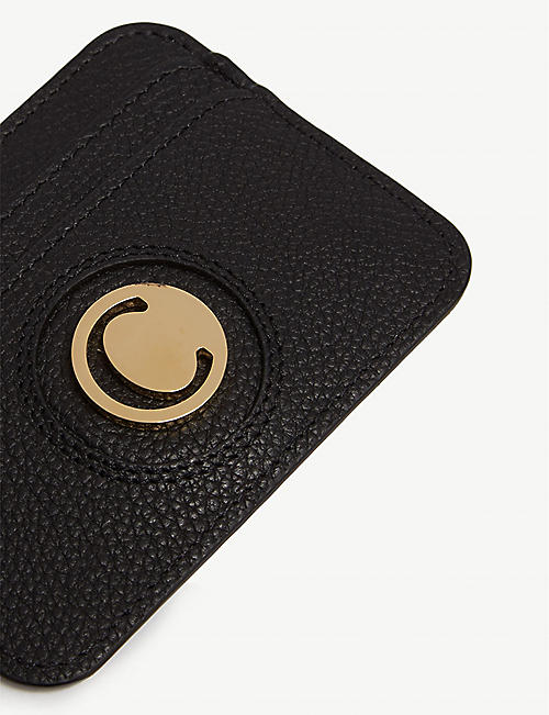 CHLOE Slider leather card holder