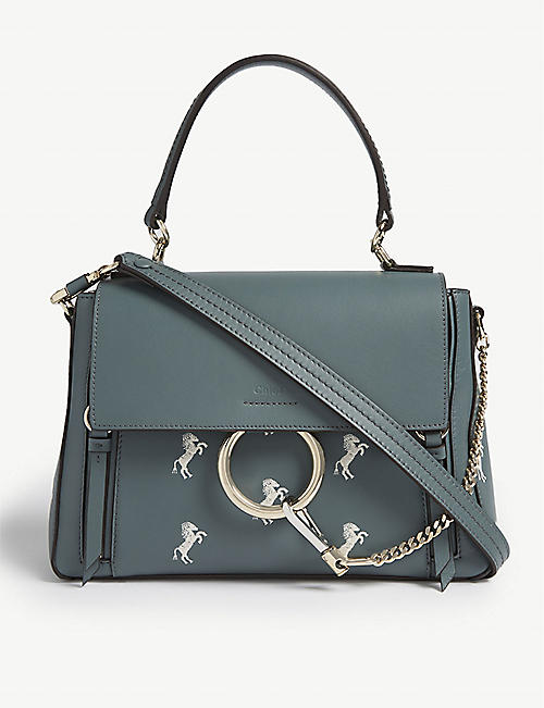 425149eb0f CHLOE Faye horse-print leather shoulder bag