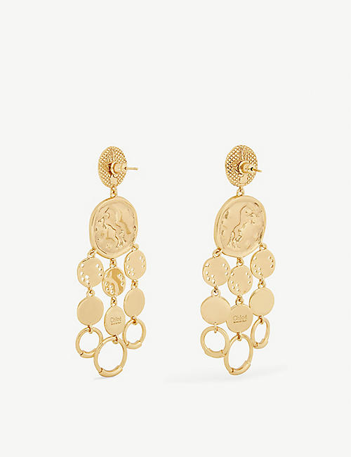 CHLOE Medallion drop earrings