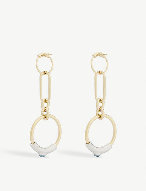 CHLOE Hoop earrings with stone inlay