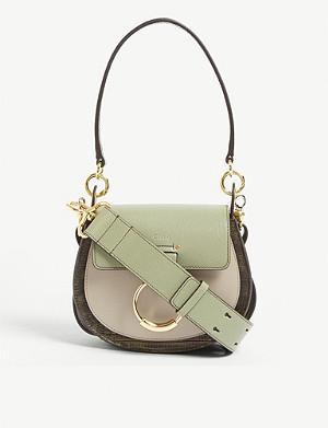 46c21db81e8e CHLOE - Tess leather and suede cross-body bag | Selfridges.com
