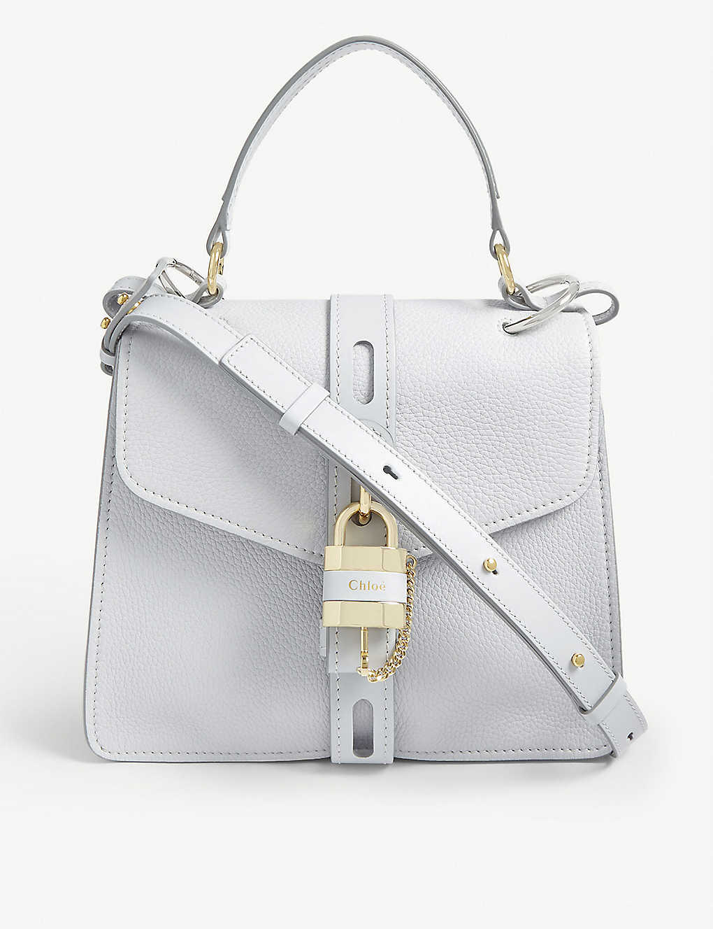 CHLOE: Aby medium leather satchel bag