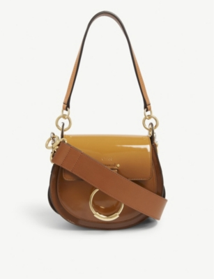 CHLOE Tess patent leather shoulder bag