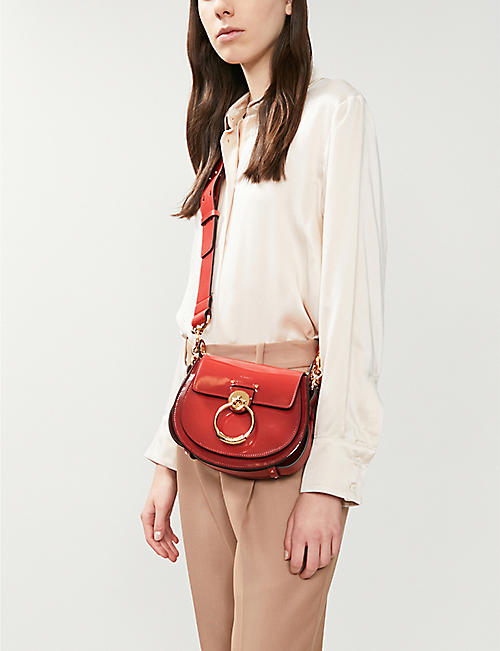 CHLOE Tess small patent leather cross-body bag