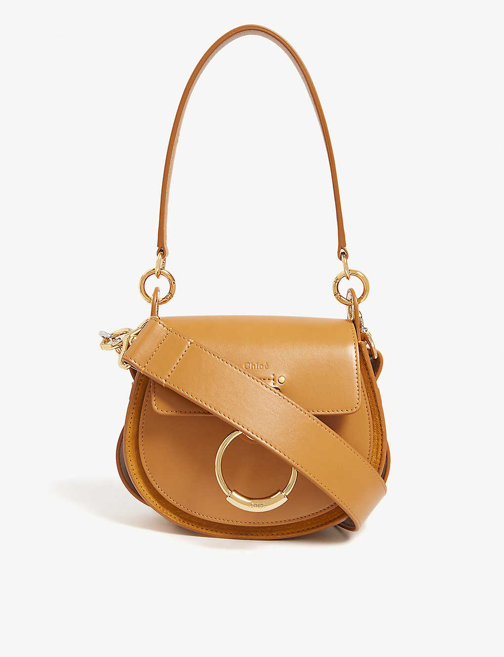 4a8114ca117e86 CHLOE - Tess leather and suede cross-body bag | Selfridges.com
