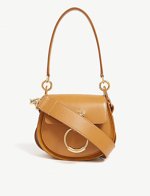 42204bab9e37 CHLOE Tess leather and suede cross-body bag