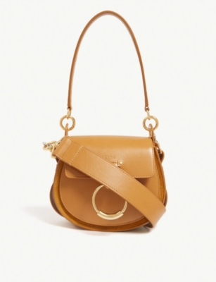CHLOE Tess leather and suede cross-body bag