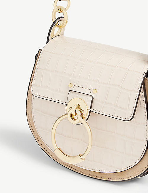 CHLOE Tess croc-embossed cross-body bag