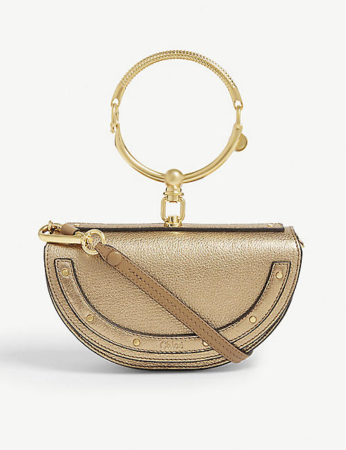 36acde95f86e CHLOE Nile metallic grained leather cross-body bag