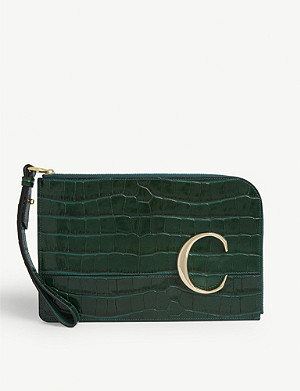 CHLOE Monogram leather card holder