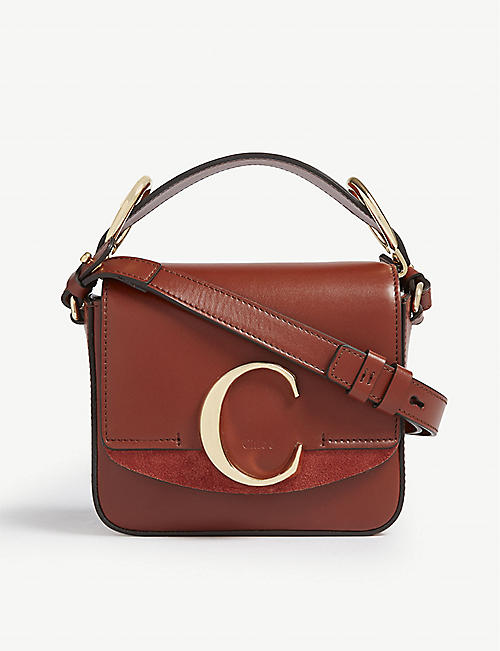 fe5189e15cb7 CHLOE Mini Chloé C leather shoulder bag