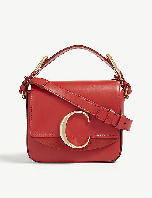 771c7b5a938 CHLOE Mini Chloé C leather shoulder bag