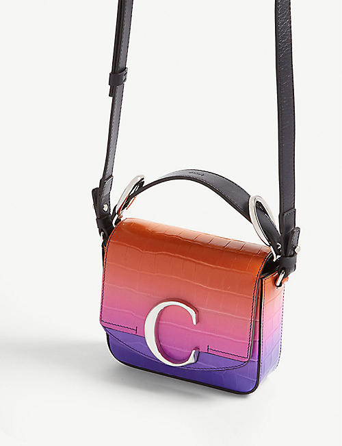 CHLOE Gradient croc-embossed bag