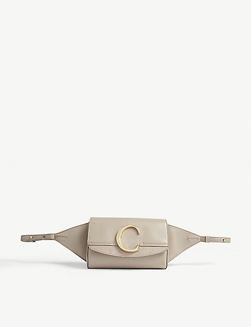 CHLOE Chloé C leather belt bag