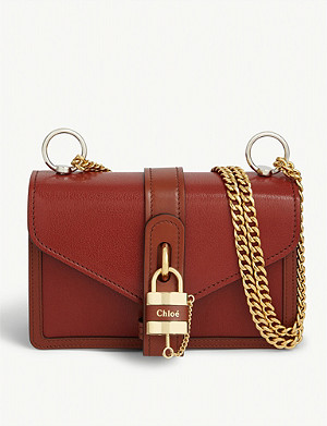 CHLOE Aby Chain leather shoulder bag