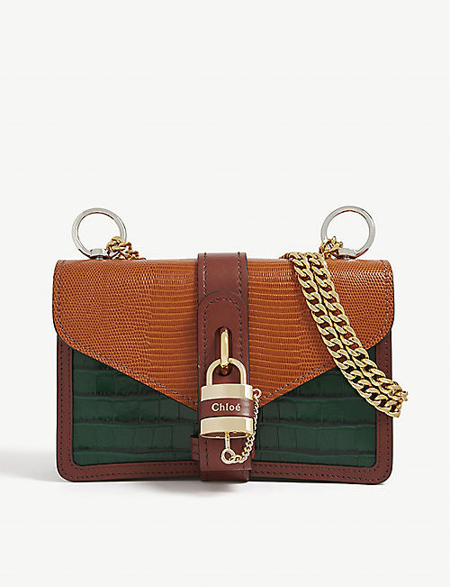 CHLOE Aby reptile-embossed leather satchel bag