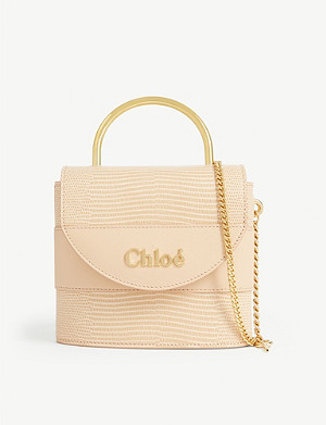 CHLOE Small Aby Lock reptile-embossed leather bag