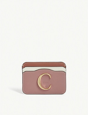 CHLOE C leather card holder