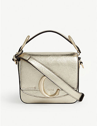 CHLOE: Chlo? C mini metallic Toaster bag