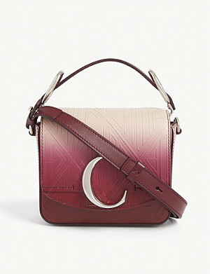 CHLOE Toaster mini logo embossed leather cross-body bag