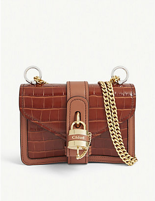 CHLOE: Aby mini leather shoulder bag