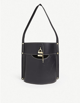 CHLOE: Aby leather bucket bag