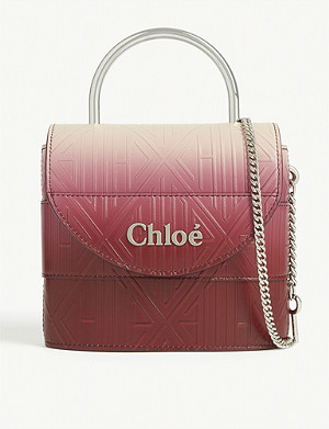 CHLOE Aby logo-embossed leather cross-body bag