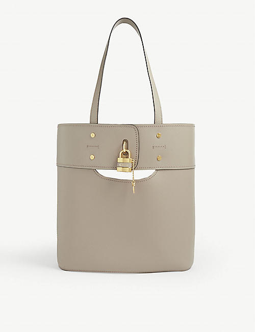 CHLOE: Aby leather tote bag