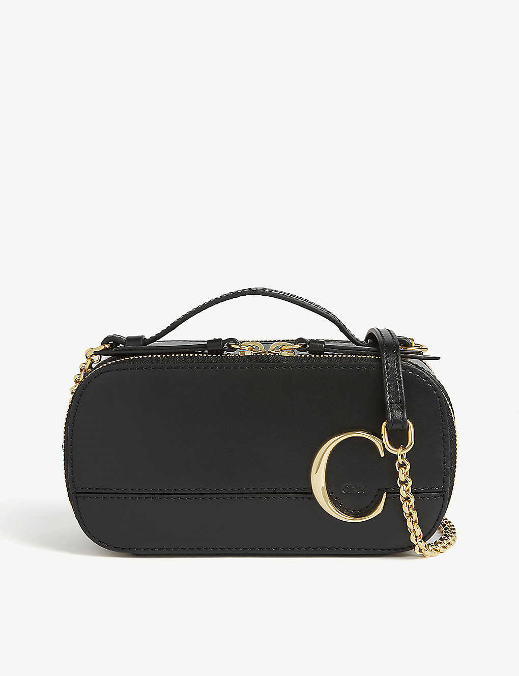 CHLOE: Chloé C mini leather shoulder bag