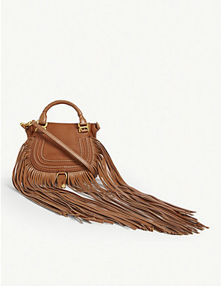 CHLOE: Marcie leather mini saddle bag