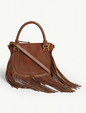 CHLOE Marcie fringe leather shoulder bag