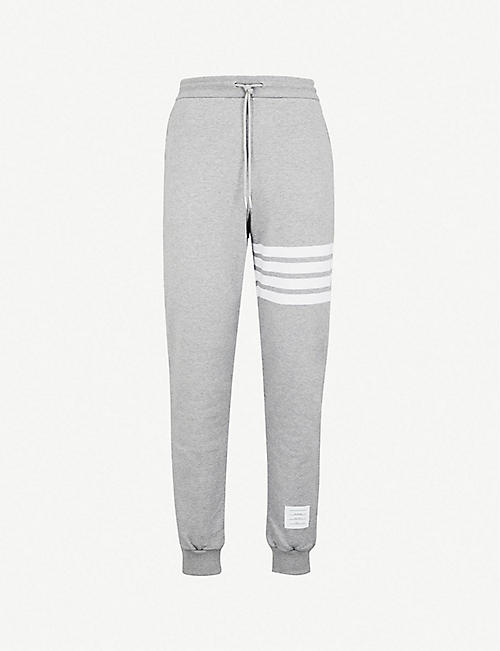 new arrivals 7a527 3c8d2 THOM BROWNE Striped cotton-jersey jogging bottoms
