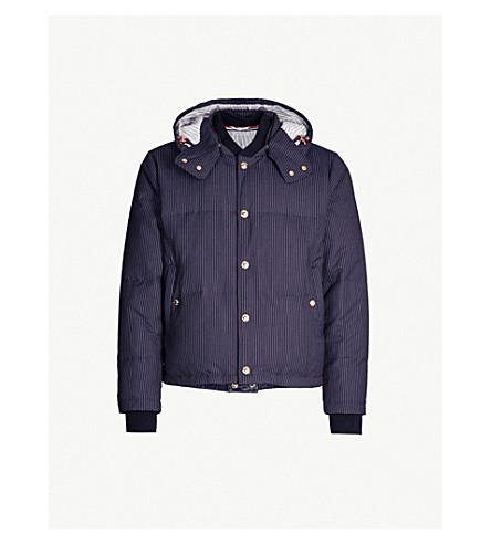 0f3ccba012 THOM BROWNE - Striped wool-down hooded jacket | Selfridges.com